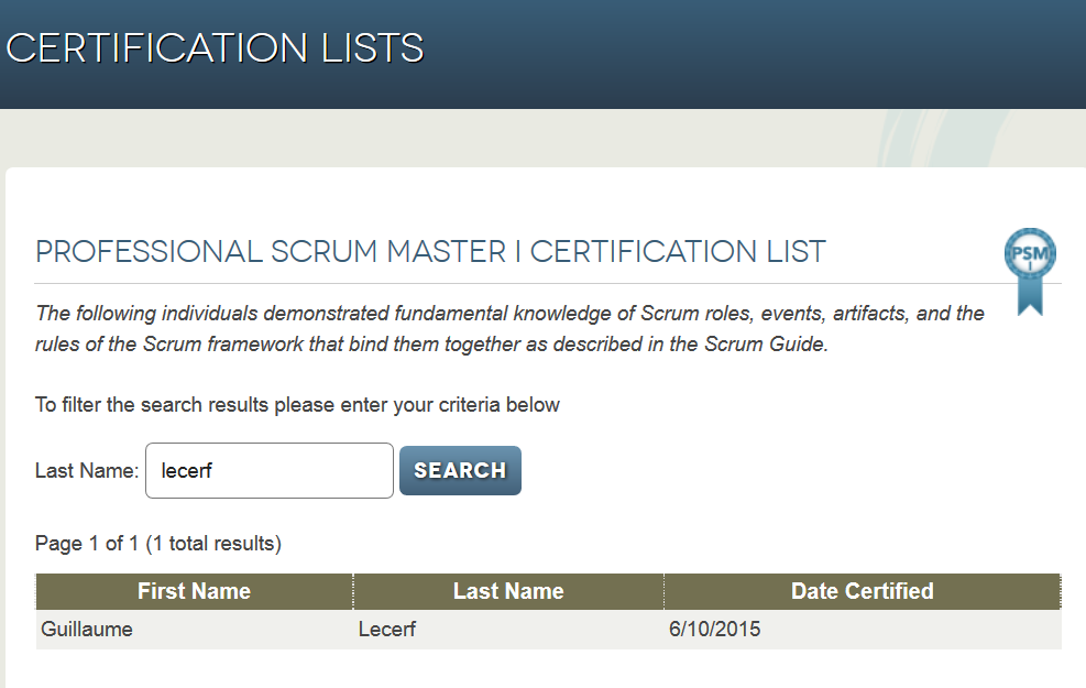Objectif PSM 1 : Professional Scrum Master I